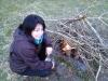 Fire lighting with a flint